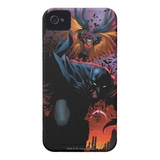 Los nuevos 52 - Batman y petirrojo #1 iPhone 4 Case-Mate Carcasas