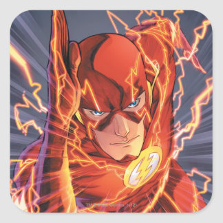 Los nuevos 52 - el flash #1 pegatina cuadrada