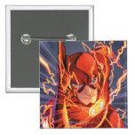 Los nuevos 52 - el flash #1 pin cuadrada 5 cm