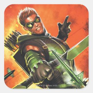 Los nuevos 52 - la flecha verde #1 pegatina cuadrada