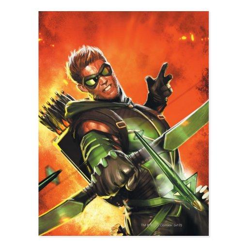 Los nuevos 52 - la flecha verde #1 tarjetas postales