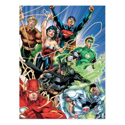 Los nuevos 52 - liga de justicia #1 tarjeta postal