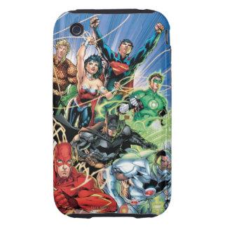 Los nuevos 52 - liga de justicia #1 tough iPhone 3 coberturas