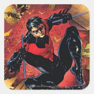 Los nuevos 52 - Nightwing #1 Pegatina Cuadrada