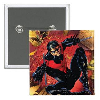 Los nuevos 52 - Nightwing #1 Pin Cuadrado