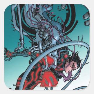Los nuevos 52 - Superboy #1 Calcomanías Cuadradass