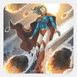 Los nuevos 52 - Supergirl #1 Calcomanía Cuadradas Personalizada