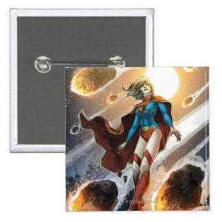 Los nuevos 52 - Supergirl #1 Pin Cuadrado