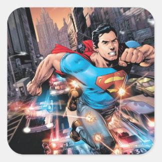 Los nuevos 52 - superhombre #1 2 pegatina cuadrada