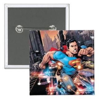 Los nuevos 52 - superhombre #1 2 pin cuadrado