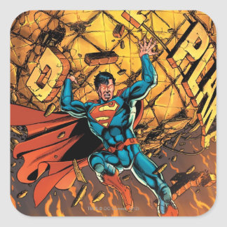 Los nuevos 52 - superhombre #1 pegatina cuadrada
