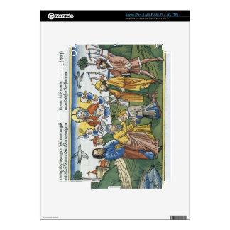 Los números 27 18-23 Moses ponen su mano sobre Jos Pegatinas Skins Para iPad 3