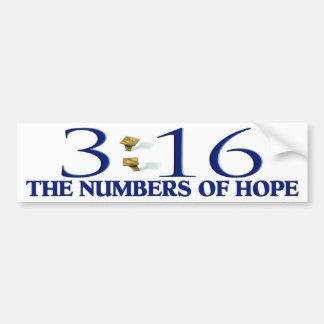 Los números de esperanza pegatina para auto