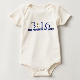 Los números de esperanza trajes de bebé