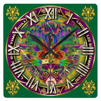 Los números del carnaval King-4 satisfacen ven Reloj Cuadrado