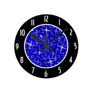 """Los """"números negros azul marino"""" del Glitz registr Relojes"""