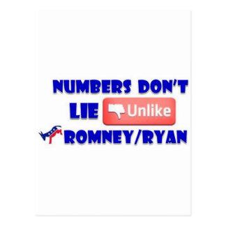Los números no mienten a diferencia de Romney/de Tarjetas Postales