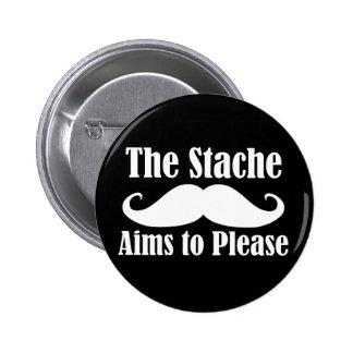 Los objetivos de Stache a por favor adentro Pins