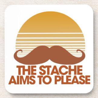 Los objetivos de Stache a por favor Posavasos De Bebida