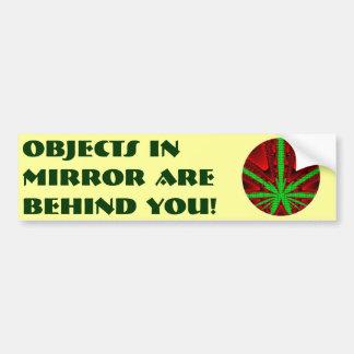 ¡Los objetos en espejo están detrás de usted! Pegatina Para Auto
