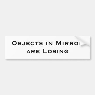 Los objetos en espejo son perdidosos pegatina para auto