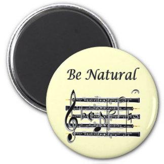 Los oboes saben a B natural Imán Redondo 5 Cm