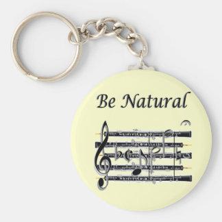 Los oboes saben a B natural Llavero Redondo Tipo Pin