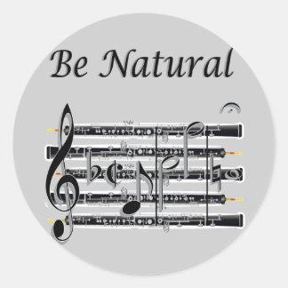Los oboes saben a B natural Pegatina Redonda