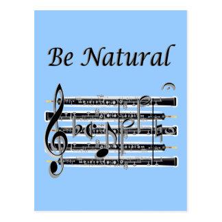 Los oboes saben a B natural Tarjetas Postales