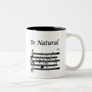 Los oboes saben a B natural Taza Dos Tonos