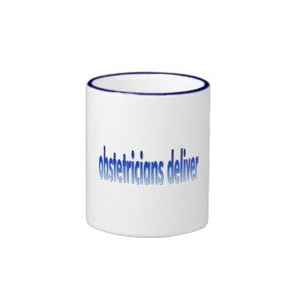 Los obstétricos entregan retruécano taza a dos colores