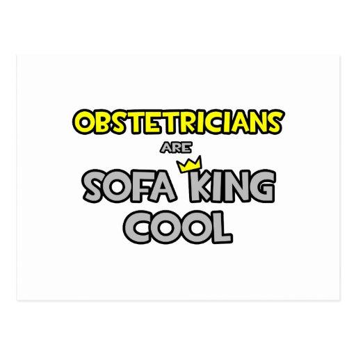Los obstétricos son rey Cool del sofá Tarjetas Postales