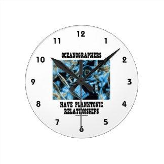 Los oceanógrafos tienen relaciones planctónicas reloj redondo mediano