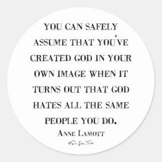 Los odios de dios tienen gusto de usted pegatina redonda