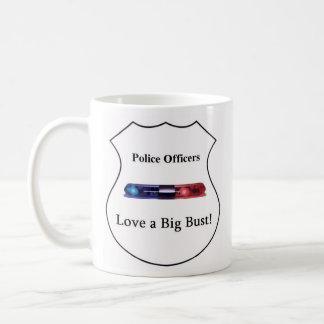 Los oficiales de policía aman un busto grande taza básica blanca