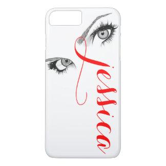 Los ojos artsy elegantes de la mujer funda iPhone 7 plus