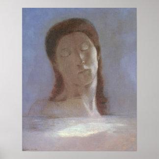 Los ojos cerrados, 1890 poster