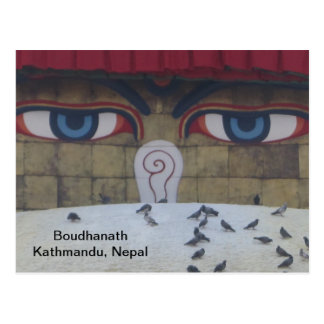 Los ojos de Boudha Stupa Postal