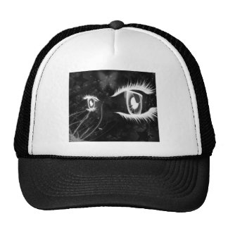 Los ojos de gato frescos - ennegrézcase con los la gorras de camionero