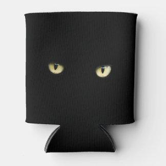 Los ojos de gato negro de Halloween pueden Enfriador De Latas