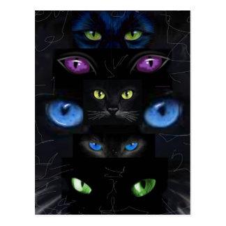Los ojos de gato postales