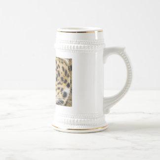 Los ojos de un leopardo jarra de cerveza