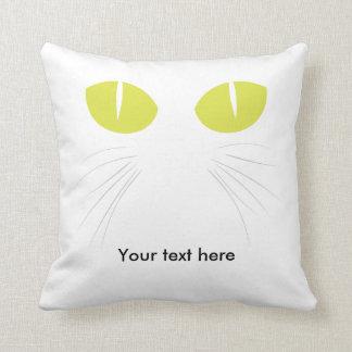Los ojos del gatito almohadas