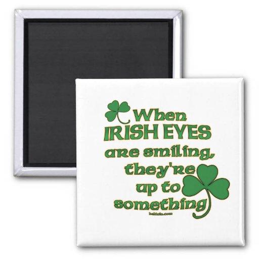 Los ojos irlandeses bromean en los imanes irlandes imán