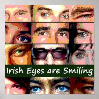 Los ojos irlandeses son poster sonriente