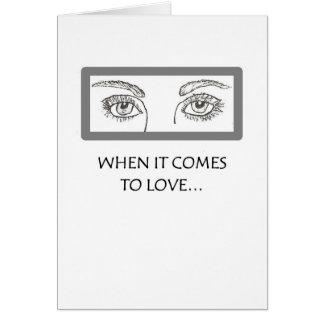 Los ojos lo dicen toda la colección tarjeta de felicitación
