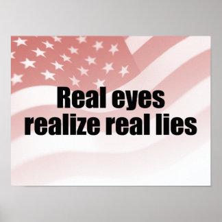 Los OJOS REALES REALIZAN LIES.png REAL Póster