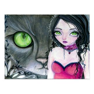 Los ojos verdes - postal