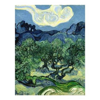 Los olivos de Vincent van Gogh 1889 Flyer A Todo Color