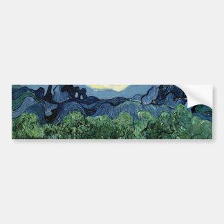 Los olivos de Vincent van Gogh (1889) Pegatina Para Auto